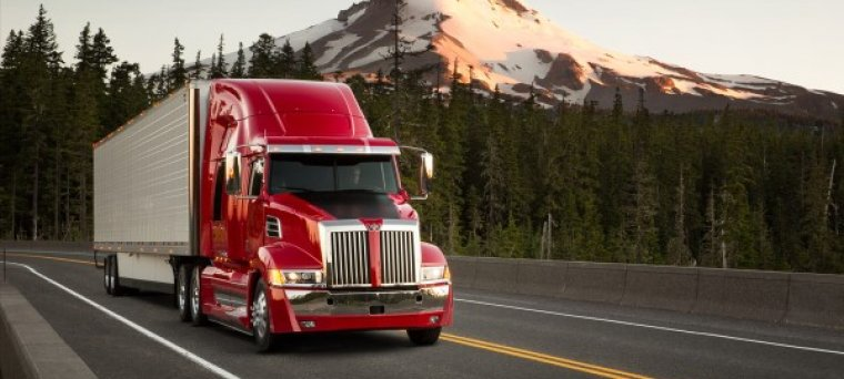 Western Star heavy haul truck in red