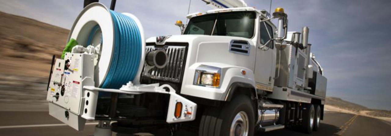 Western Star heavy haul truck outfitted to service utilities